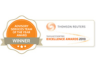 Thomson Reuters Advisory Services Team of the Year 2013