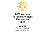 MPF Best Managed International Firm 2014